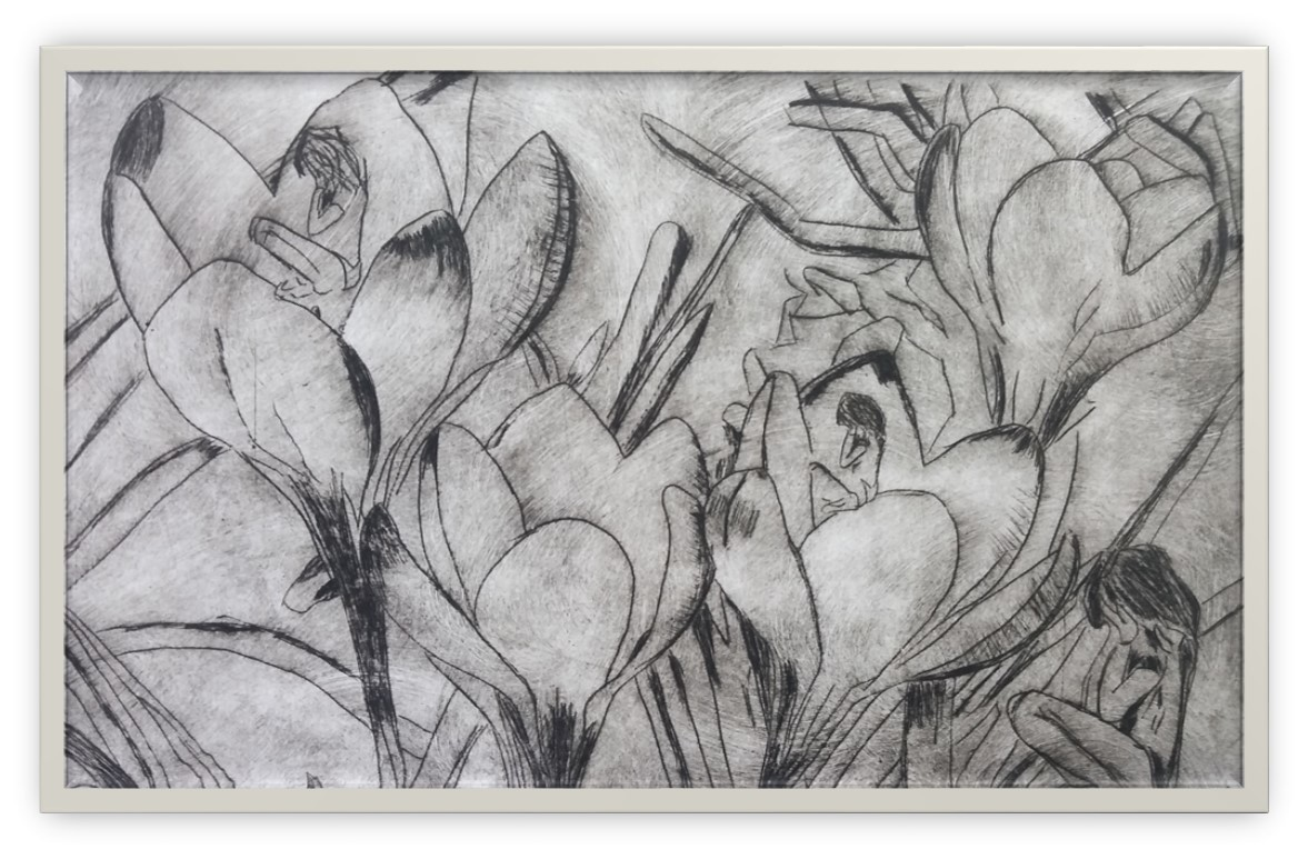 The Lakes College Primaryfor A Physics Power Of Leave Imagejan Draw Pictured Above 3rd Place Mia Woods In Amongst Violets Dry Point Print